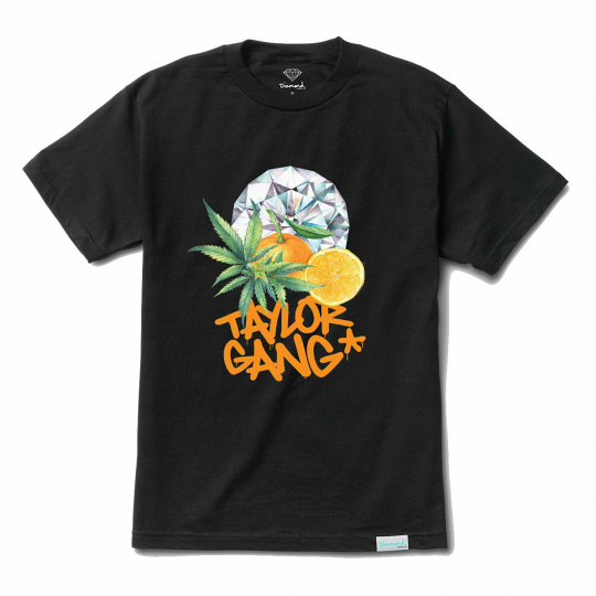 Diamond Supply Co. x Taylor Gang Men's Short Sleeve T Shirt Black Clothing Ap...