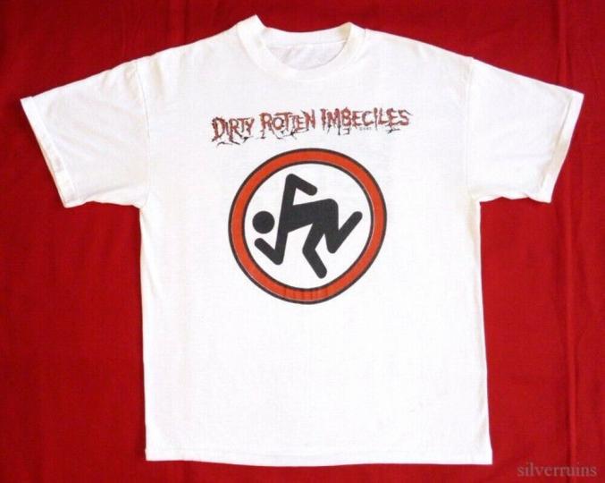 Dirty Rotten Imbeciles Vintage T Shirt 80's Tour Hardcore Punk Thrash Metal DRI