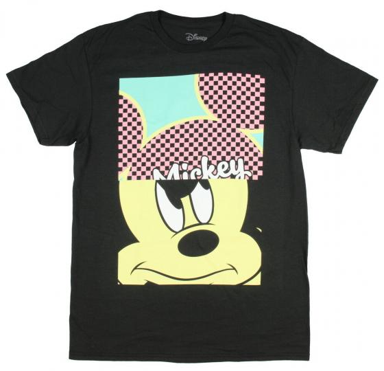 Disney Men's Mickey Mouse Mad Split Head T-Shirt