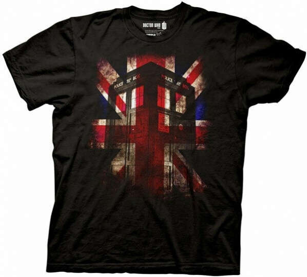 Doctor Who Men's TARDIS Union Jack T-Shirt
