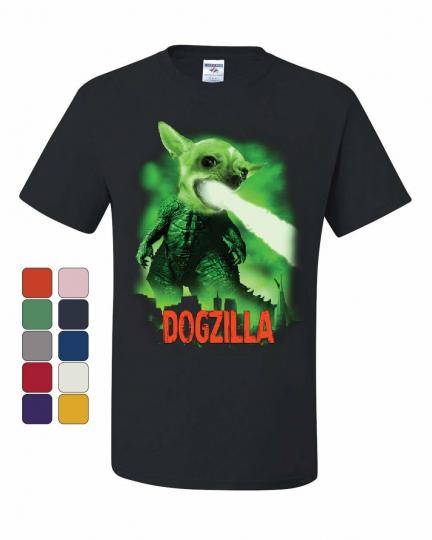 Dogzilla Funny T-Shirt Movie Parody Dog Pet Lovers Atomic Breath Tee Shirt