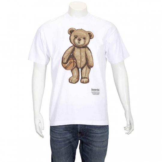 Domrebel White Teddybear Print T-shirt