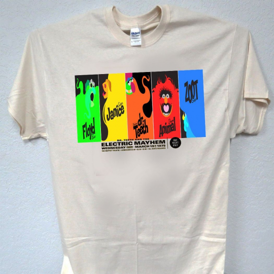 Dr.TEETH & The ELECTRIC MAYHEM, Muppets, Animal Ivory Sizes: S-5X,T-SHIRT, T-195
