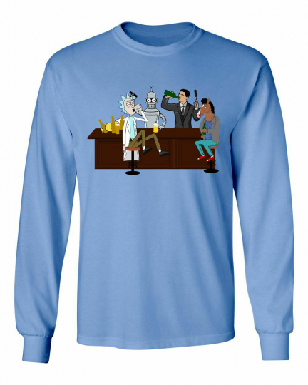 Drinking Buddies Rick & Morty Archer BoJack Horseman Funny Men's Long T-Shirt