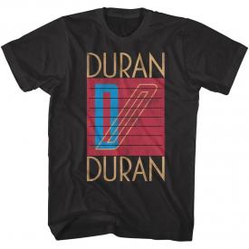 Duran Duran Logo Art 80's Pop Men's T Shirt Rock Band Album Concert Tour Merch
