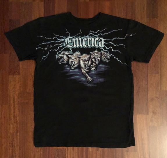 EMERICA Lightning Wolves Shirt Size Medium