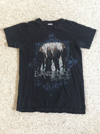 EVANESCENCE The Open Door Tour T-SHIRT OFFICIAL MERCH Mens Small Rock Band