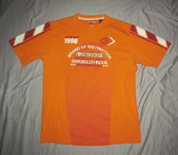 EYNCE Brand of Distinction Men's XL original orange heavyweight cotton T shirt