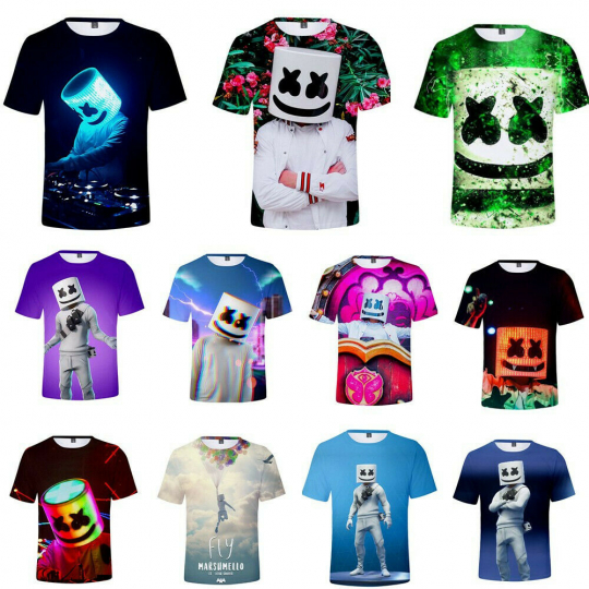 Edm DJ Music Funny 3D Print  Mens/Womens  Casual T-Shirt Short Sleeves Top Tee