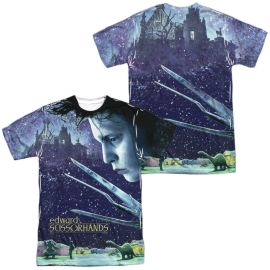 Edward Scissorhands Movie HOME POSTER 2-Sided All Over Print Poly T-Shirt