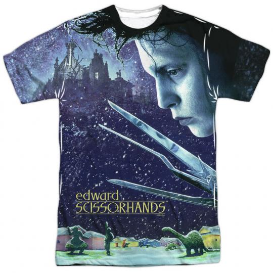 Edward Scissorhands Movie Home Poster Sublimation Licensed Adult T Shirt