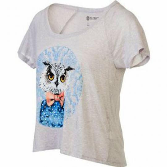 Element Owl Knit Top (M) Grey Heather
