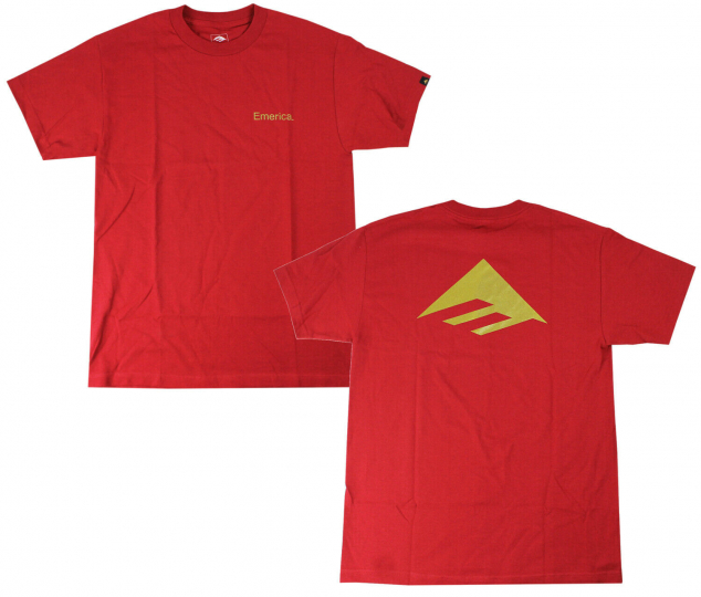 Emerica Skateboard Shirt Pure Triangle Cardinal