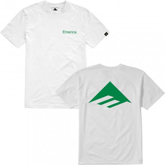 Emerica Skateboard Shirt Pure Triangle White