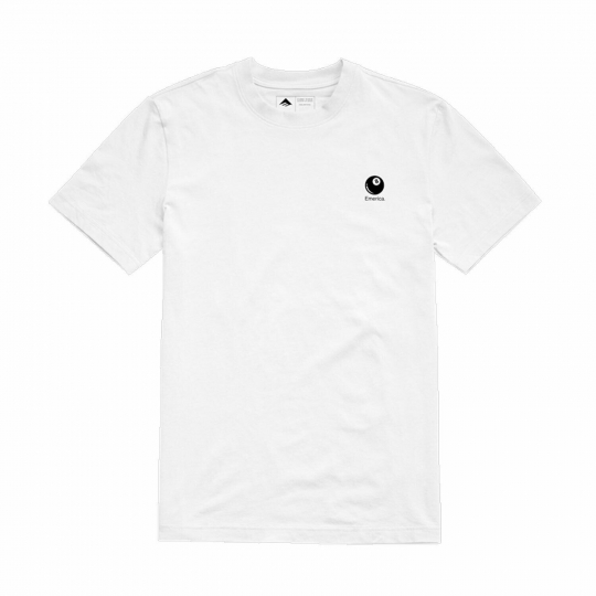 Emerica Skateboard T-Shirt 8 Ballr White
