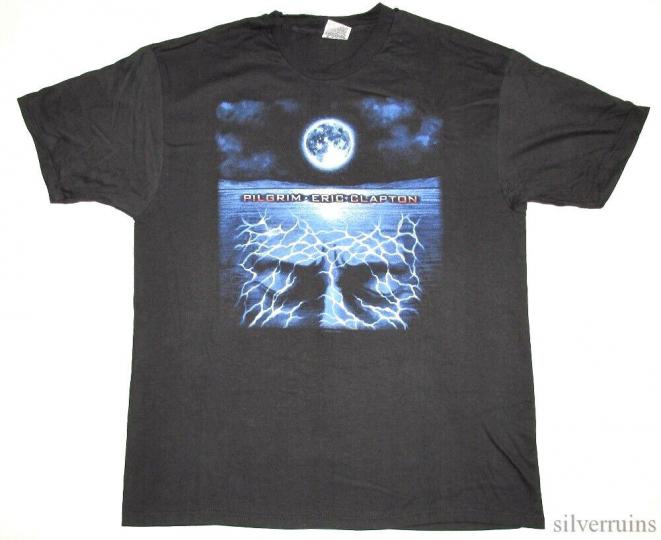 Eric Clapton Vintage T Shirt 1998 Pilgrim Tour Concert Rock Music Guitarist XL