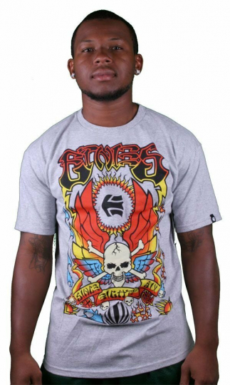 Etnies Poster Wes Humpston Grey Short Sleeve T-Shirt