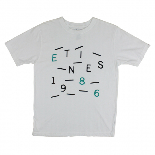 Etnies Skateboard T-shirt TRAIL CODES YOUTH KIDS White