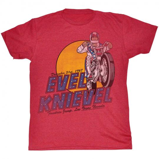 Evel Knievel Danger Zone Adult T-Shirt Tee