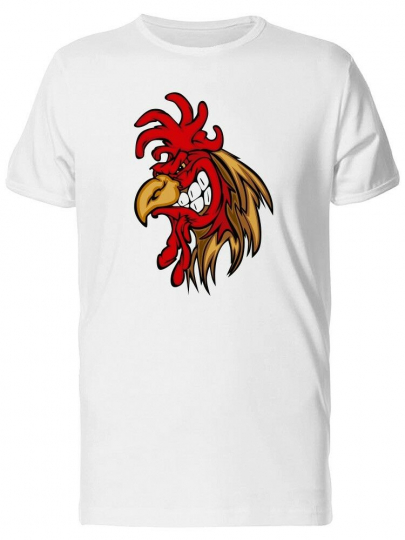 Evil Rooster Mascot Cartoon Men's Tee -Image by Shutterstock