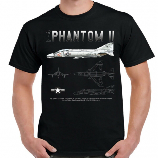 F-4 Phantom Schematic Men's T-Shirt