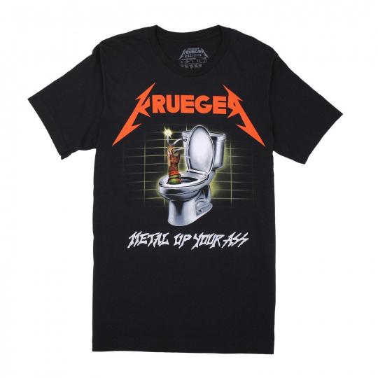 FREDDY KRUEGER METALLICA MASHUP RARE OLDSKOOL ARTWORK Shirt *FULL FRONT DESIGN*