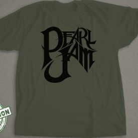 Black Pearl Jam Logo T-shirt
