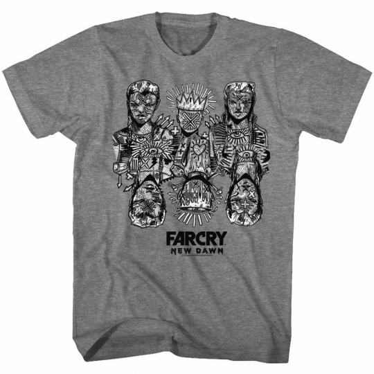 Far Cry The Twins Graphite Heather Adult T-Shirt