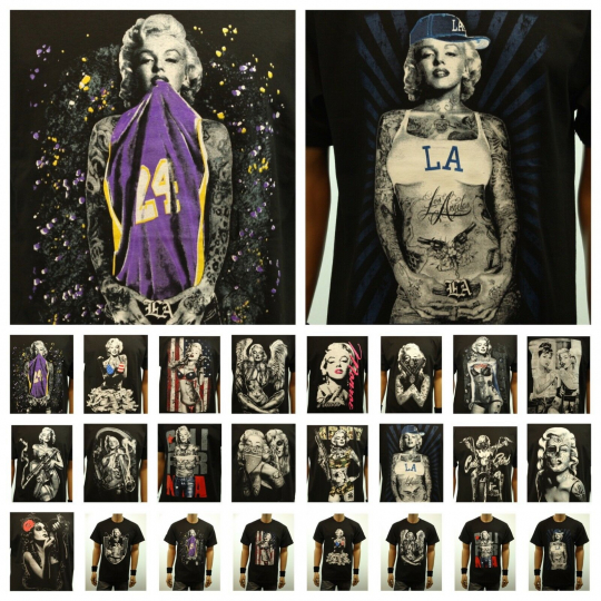 Fashion Graphic T-Shirt Marilyn Monroe Casual Hipster Printed Funny Crew Neck T