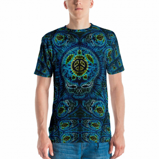 Feed A Hippie Sublimated Print T-shirt - Terrapin Mind / Small