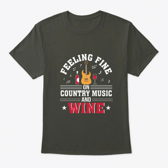 Feeling Fine On Country Music And Wine Hanes Tagless Tee T-Shirt