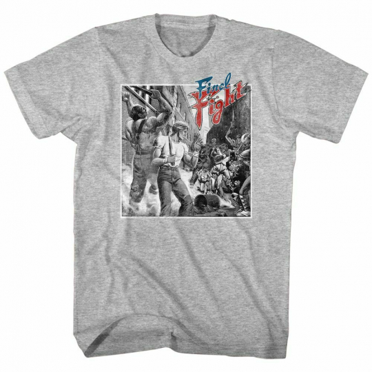 Final Fight Black And White Fight Heather Adult T-Shirt