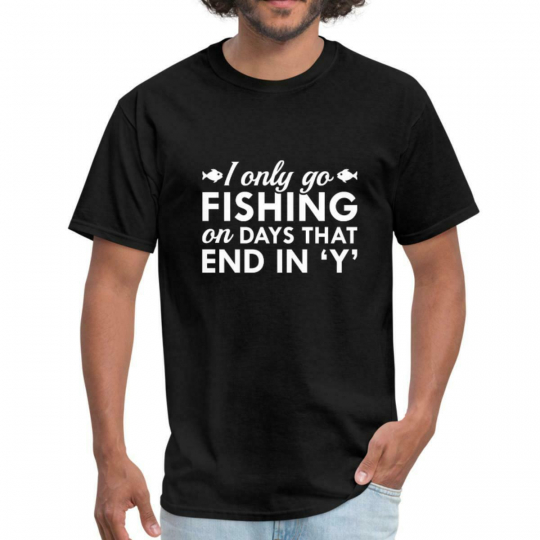 Fishing Every Day Funny Quote Men's T-Shirt