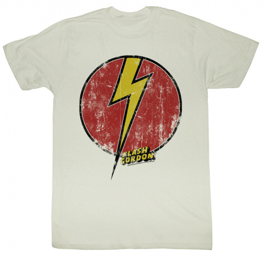 Flash Gordon Flash Bolt Logo Adult T-Shirt Tee