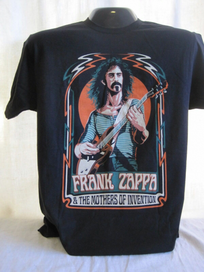 Frank Zappa & The Mothers of Invention T-Shirt Tee New Apparel Music Black 22