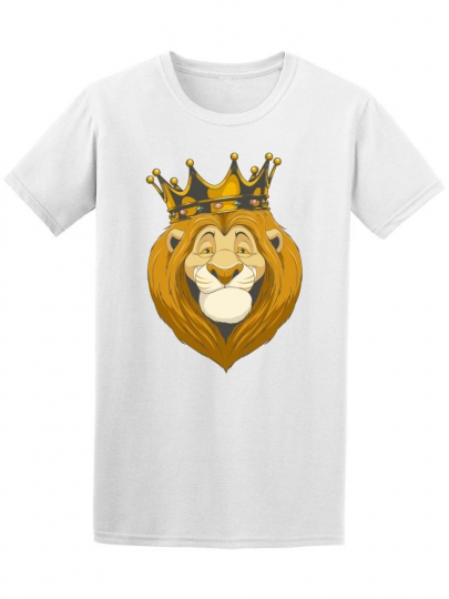 Friendly Funny Lion Cartoon Men's Tee -Image by Shutterstock