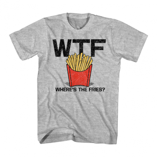 Fries Gray Heather Adult T-Shirt