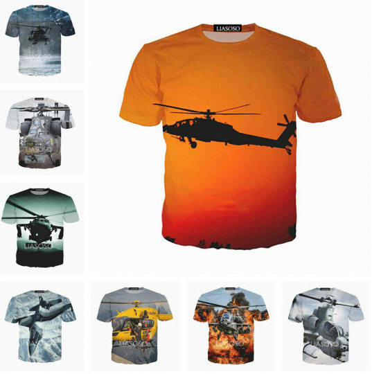 Funny Anime Plane Women Men T-Shirt 3D Print Short Sleeve Tee Tops Casual