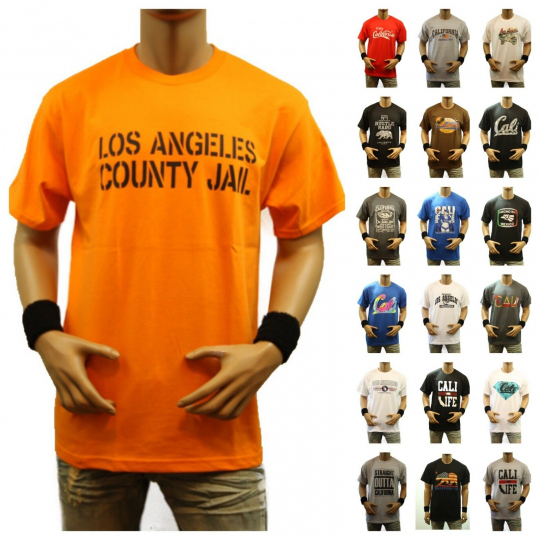 Funny Graphic T-Shirt CALIFORNIA CALI LA Printed Casual Fashion Hip Hop Tee