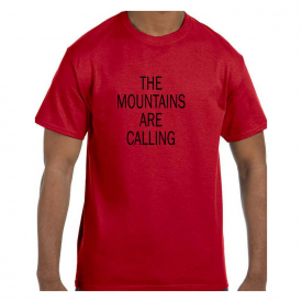 Funny Humor Tshirt The Mountains Are Calling Short or Long Sleeve