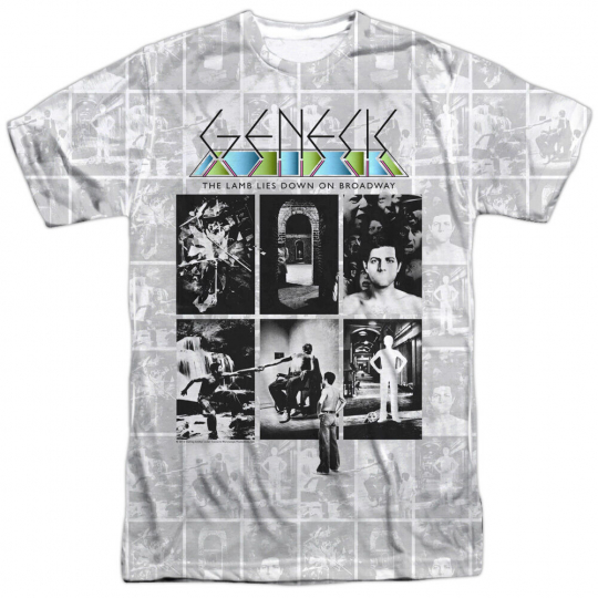 GENESIS LAMP Licensed Bold Front Print Adult Men's Graphic Band Tee Shirt SM-3XL