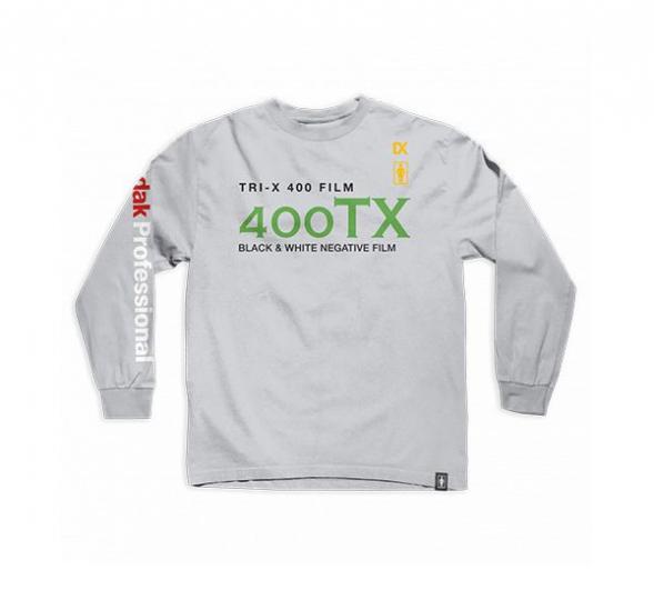 GIRL Skateboards x KODAK Film Tri X 400 Silver Gray Longsleeve T-Shirt