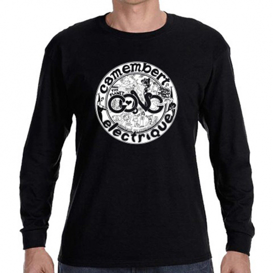 GONG Camembert Electrigue Rock Band Long Sleeve Black T-Shirt Size S to 3XL
