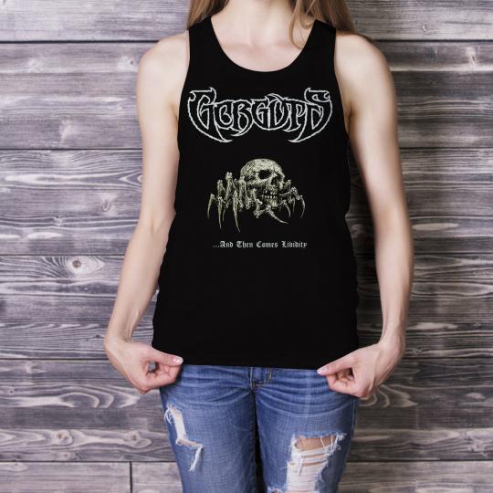 GORGUTS And Then Comes Lividity Women Black Tank Top Death Metal Band Singlet