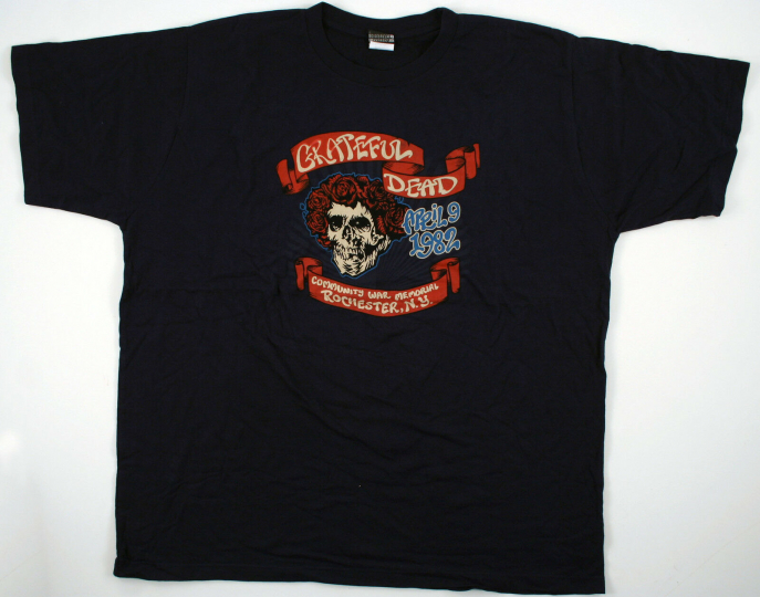 GRATEFUL DEAD-BERTHA-WAR MEMORIAL ROCHESTER NY 1982 TSHIRT M ONLY RARE