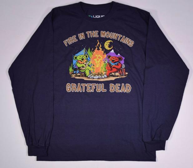 GRATEFUL DEAD-FIRE IN THE MOUNTAIN-LONG SLEEVE SHIRT M, L, XL, XXL  Garcia,Lesh