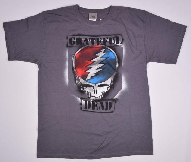 GRATEFUL DEAD-GRAFFITI SYF-STEAL YOUR FACE-GREY TSHIRT L, XL  Garcia