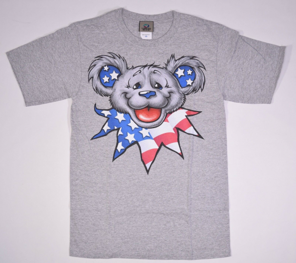 GRATEFUL DEAD-PATRIOT BEAR HEAD-USA-HEATHER TSHIRT S, XL 2X Bears, Garcia