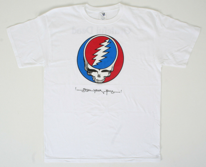 GRATEFUL DEAD-STEAL YOUR FACE-SYF-2 sided T-SHIRT SMALL ONLY Garcia,Lesh,Weir