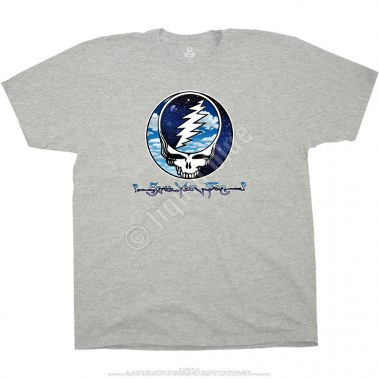 GRATEFUL DEAD-STEAL YOUR SKY & SPACE-SYF-HEATHER TSHIRT PLUS  4X 6X